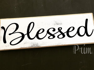 12x4 Blessed Wood Wedding Family Sign