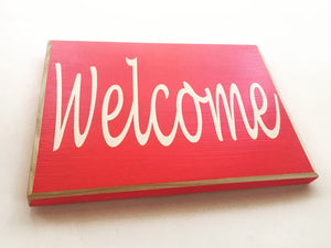 10x8 Welcome Wood Home Business Sign