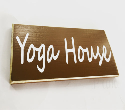 Yoga House Custom Wood Ohm Namaste Meditation Studio Sign