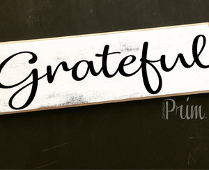 12x4 Grateful Wood Blessing Wedding Sign