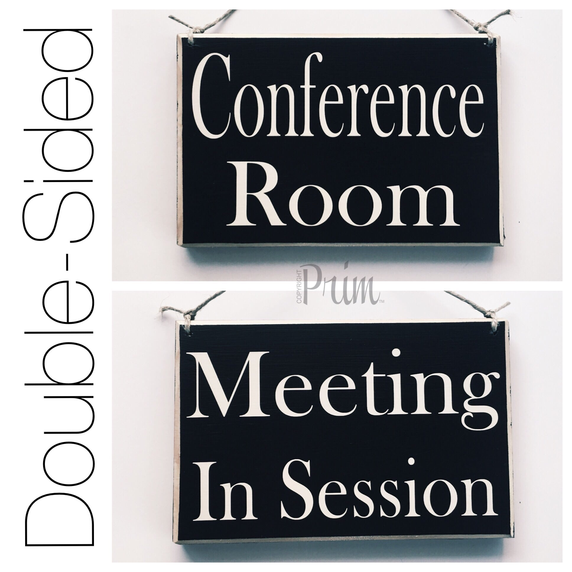 8x6 conference meeting room wood in session sign designs by prim