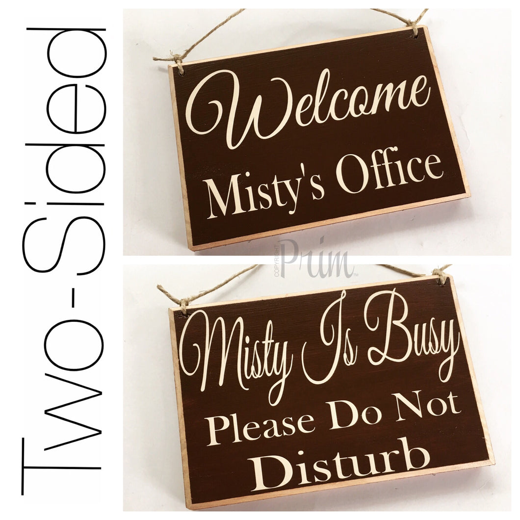 8x6 Custom Name Two Sided Welcome Personalized Please Do Not Disturb