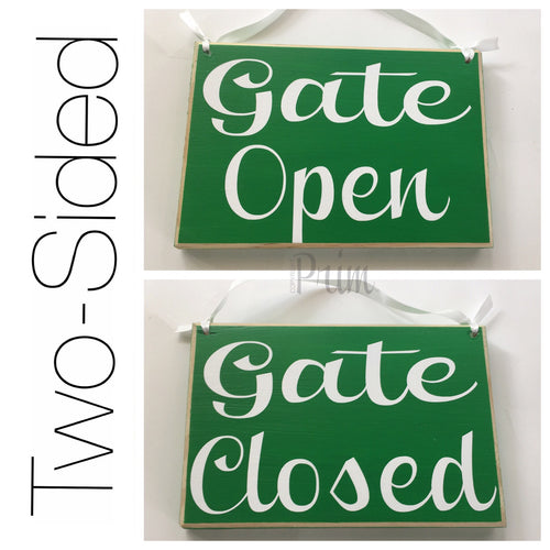 8x6 Two Sided Gate Open Closed Wood Sign