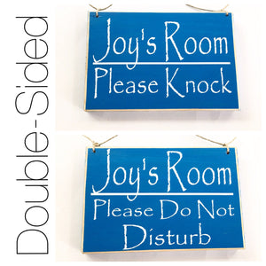 8x6 Custom Name Two Sided Welcome Personalized Please Do Not Disturb Children Kid Room