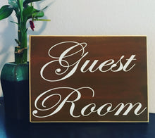 Load image into Gallery viewer, 10x8 Guest Room Custom Wood Sign Entrance Suite Quarters Cottage Guest House Rental Pool Room Wall Door Directional Plaque