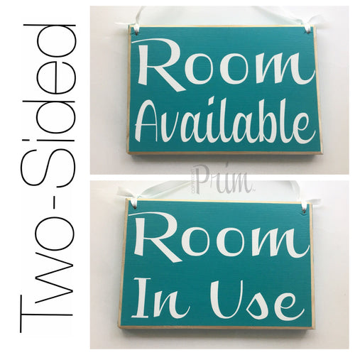 8x6 Room Available In Use Wood Sign