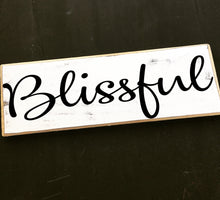 Load image into Gallery viewer, 12x4 Blissfull Wood Wedding Blessing Sign