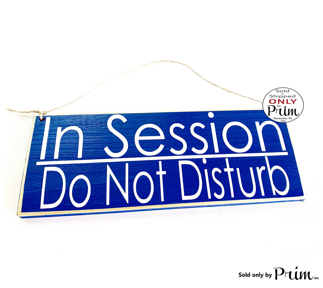 12x4 In Session Do Not Disturb Therapy Spa Salon Custom Wood Sign Shhh Meeting Quiet Soft Voices Office Door In Progress Relaxation Plaque