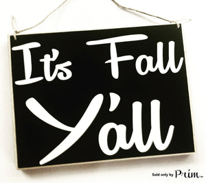 10x8 It's Fall Y'all Wood Harvest Autumn Sign