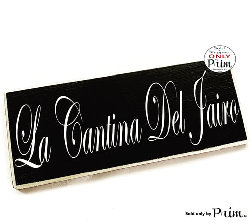 14x6 LA CANTINA Custom Name Personalized Wood Sign Spanish Bar Cellar Bar Pub Restaurant Kitchen Spain Cocina Door Wall Plaque