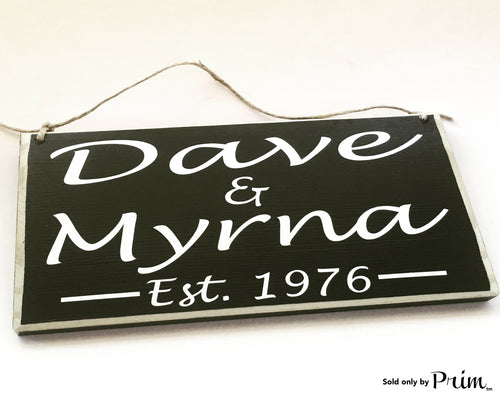 10x6 Custom Name Anniversary Date (Choose Color) Love Schack Wedding Bridal Shower Wood Sign