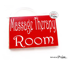 Load image into Gallery viewer, 8x6 Massage Therapy Room Custom Wood Sign Spa Please Do Not Disturb Facial Acupuncture Detox Cleanse Meditation Relaxation Health Plaque