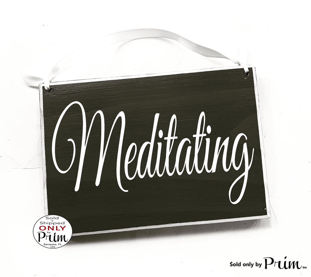 8x6 Meditating Custom Wood Sign In Session Please Do Not Disturb Shhh Yoga Relaxation In Progress Meditate Om Zen Quiet Please Door Plaque