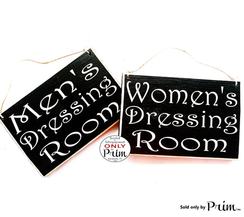 8x6 Men's Women's Dressing Room Custom Wood Sign | Boutique Shop Changing Room Salon Shop Retail Clothing Store Spa Wall Door Plaque