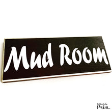 Load image into Gallery viewer, Mud Room Custom Wood Sign 12x4 Entryway Front Foyer Please Remove Your Shoes Coat Rack Storage Room Laundry