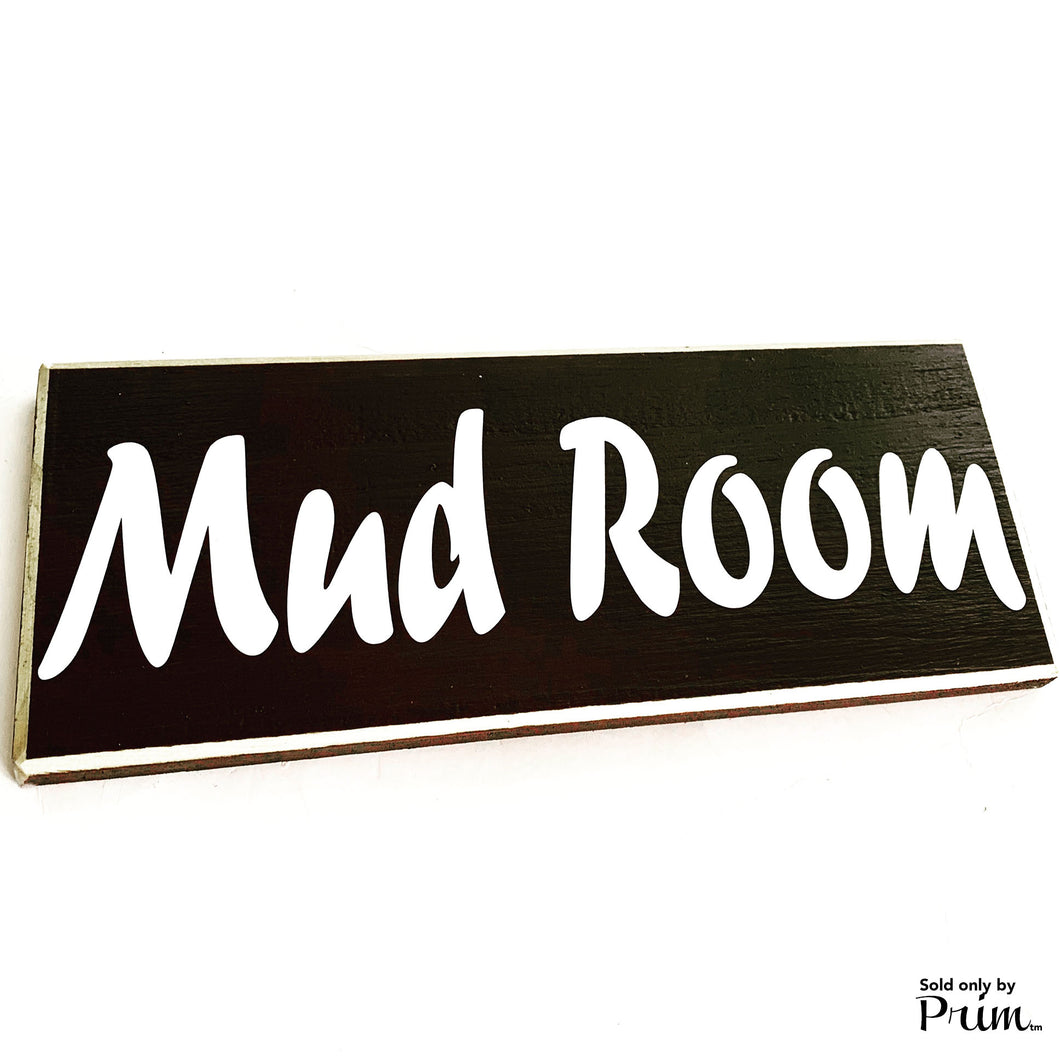 Mud Room Custom Wood Sign 12x4 Entryway Front Foyer Please Remove Your Shoes Coat Rack Storage Room Laundry