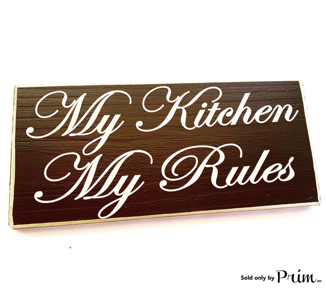 12x6 My Kitchen My Rules Custom Wood Sign Kiss the cook Chef Boss Lady Funny Kitchen Eat Plaque