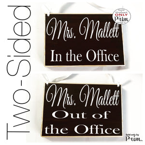 8x6 Custom Name ADD NAME Please Do Not Disturb Welcome Two Sided Custom Wood Sign Teacher Counselor School In The Office Out Open Closed