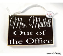 Load image into Gallery viewer, 8x6 Custom Name ADD NAME Please Do Not Disturb Welcome Two Sided Custom Wood Sign Teacher Counselor School In The Office Out Open Closed