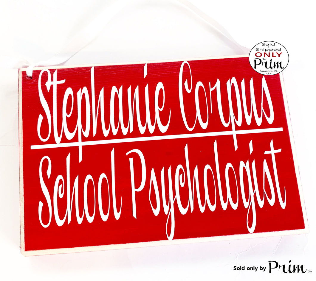10x8 Therapist Title Name Custom Wood Sign Personalized Counselor Teacher Classroom Instructor In Session Psychologist Job Door Plaque