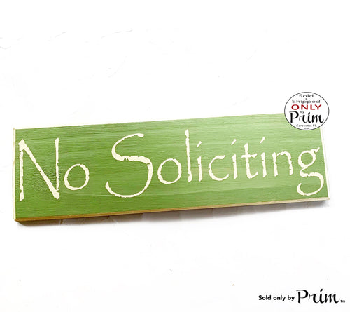 14x4 No Soliciting Custom Wood Sign | Please Do Not Disturb Do Not Knock No Selling Not Interested No Sales Wall Decor Hanger Door Sign