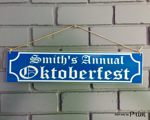 18x6 Custom Name Oktoberfest Wood German Biergarten Sign