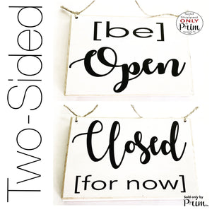 Two Sided 8x6 Be Open Closed For Now Custom Wood Sign Business Hours Shop In Session Please Do Not Disturb Welcome Spa Salon Office Plaque