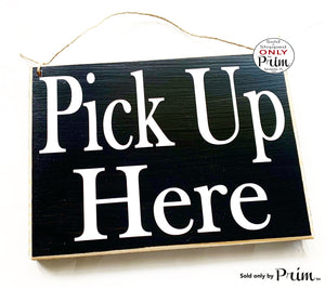 10x8 Pick Up Here Custom Wood Sign Door Order Here Restaurant Cafe Coffee House Eat Kitchen Food Pub Bar Take Out Business Door Plaque