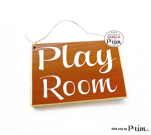 8x6 Play Room Custom Wood Sign Toys Playing Children Kids Child Care Daycare Time Out Playground Toy Story Fun Daughter Son Girls Boys