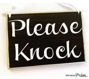 Please Knock Custom Wood Sign 8x6 Soft Voices In Session In Progress Shhh Baby Sleeping Do Not Disturb Private Welcome Plaque