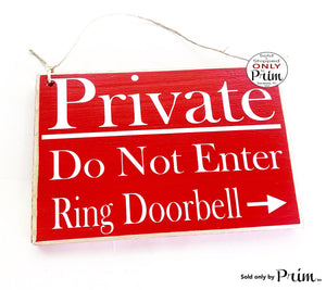 10x8 Private Do Not Enter Custom Wood Sign Personalized Office Spa Salon Business Shop Store Entrance No Exit Employees Staff Only Plaque