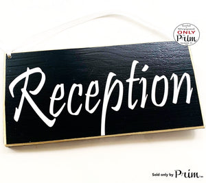 12x6 Reception Custom Entrance Wood Sign Front Desk Door Wood Administrative Assistant Business Corporate Deliveries Leave Packages Plaque