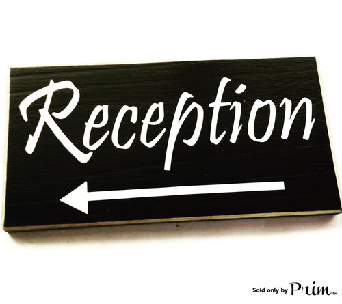 12x6 Reception Custom Entrance Arrow Front Desk Door Wood Sign Administrative Assistant Business Corporate Deliveries Leave Packages Plaque