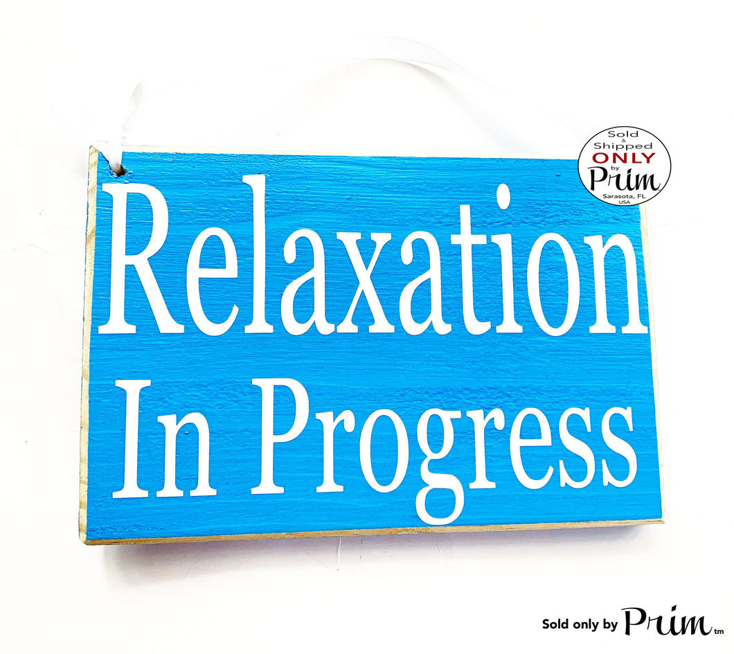 8x6 Relaxation In Progress Session Do Not Disturb Spa Salon Custom Wood Sign Office Spa Service