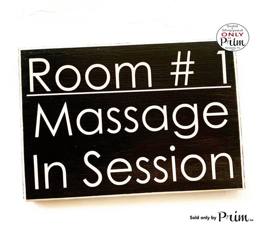 10x8 Room Number Massage In Session Custom Wood Sign |Please Do Not Disturb Silence Quiet Soft Voices Shhh Spa Salon Treatment Door Plaque