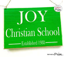 Load image into Gallery viewer, 10x8 School Name Established Custom Wood Sign