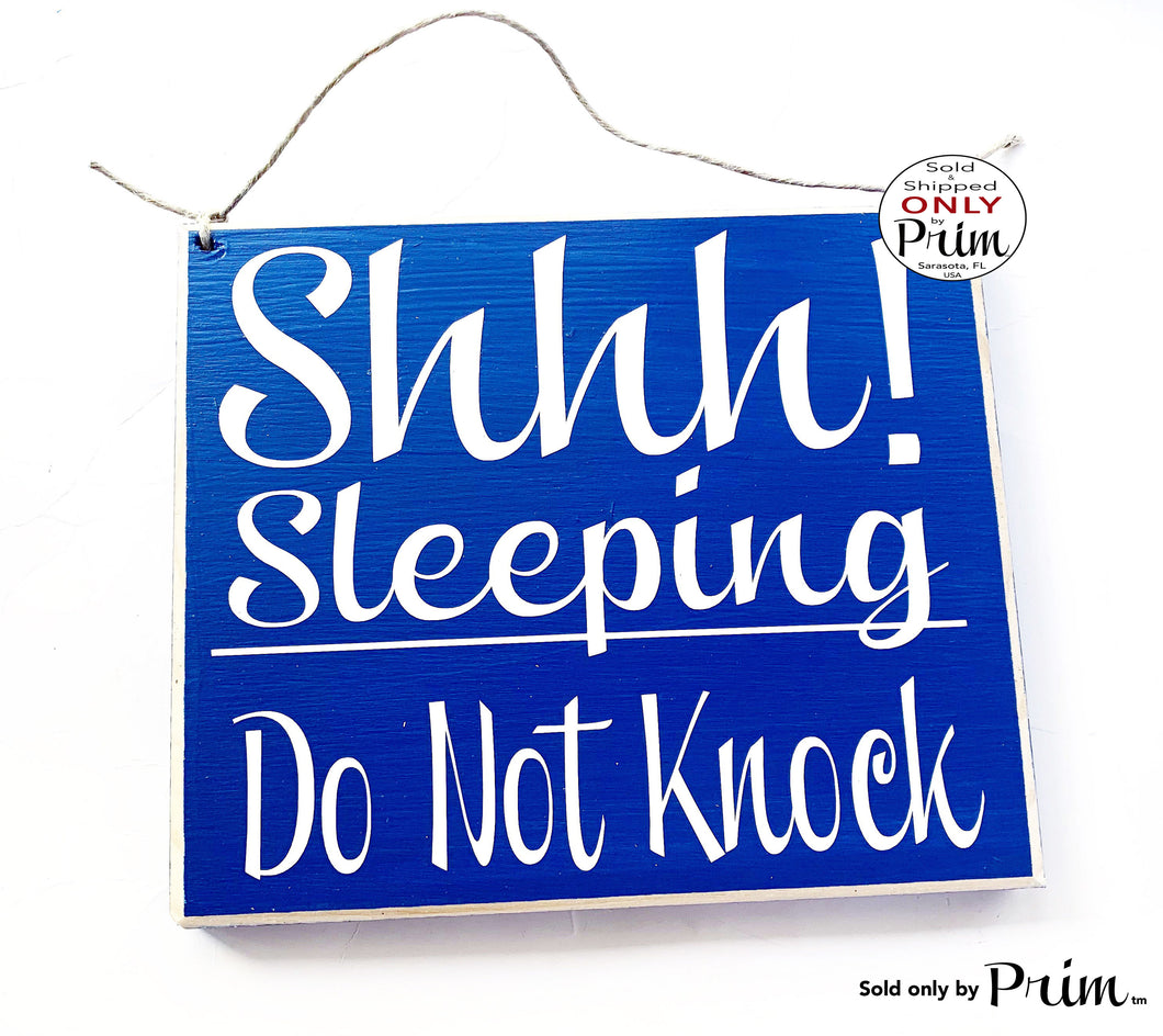 8x8 Shhh...Sleeping Do Not Knock Wood Sign