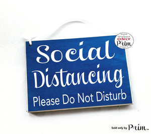 8x6 Social Distancing Please Do Not Disturb Custom Wood Sign | Flu Quarantine Zone Please Do Not Enter Sick Patient No Visitors Door Plaque