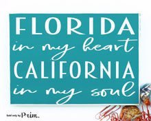 Load image into Gallery viewer, State In My Heart And Soul Custom Wood Sign US States Moving Living Home Sweet Home Grown Far Away Where My Heart Is Welcome  Plaque