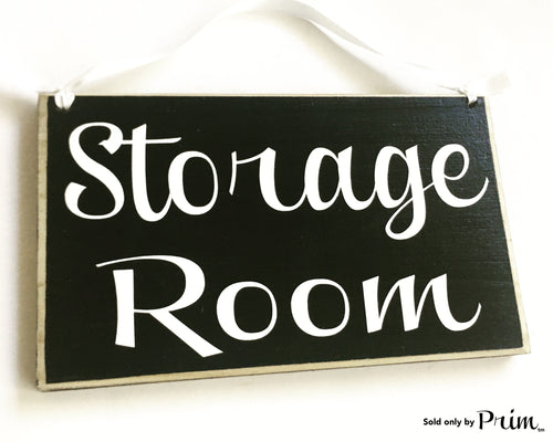 Storage Room Custom Wood Sign 8x6 Spa Office Private Staff Only Closet Utilities Janitorial Janitor Supply Supplies Welcome Door Plaque