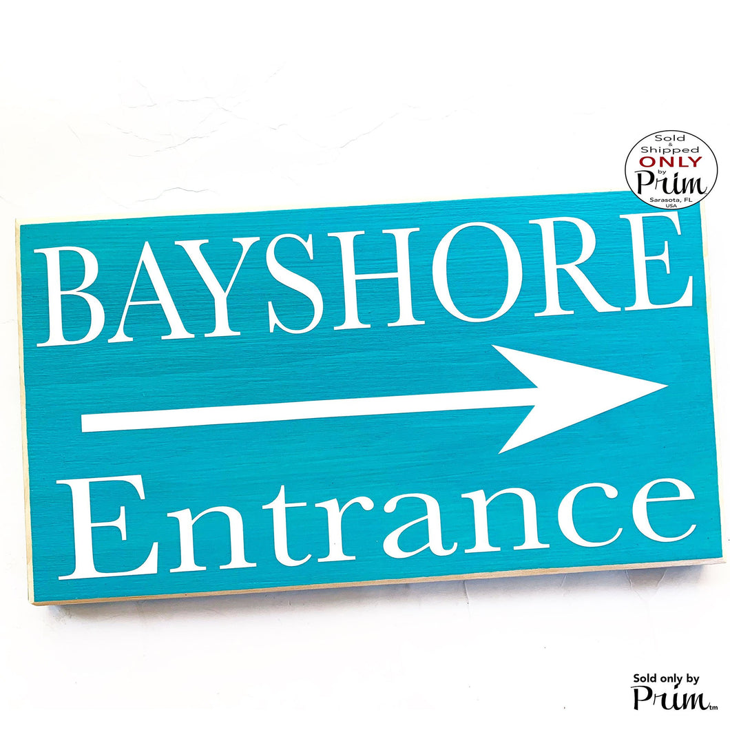 10x6 Store Name Entrance Arrow Custom Wood Sign | Personalized Customized Business Title Directional Reception Front Desk Hanger Door Plaque