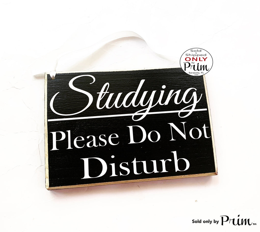 8x6 Studying Please Do Not Disturb Custom Wood Sign Teacher School Progress Students Class In Session Testing Silence Quiet Door Plaque