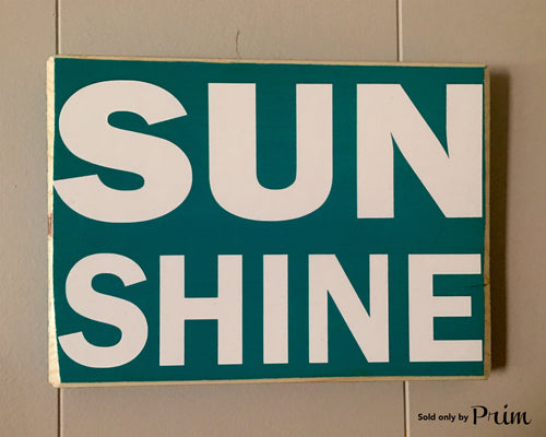 10x8 Sunshine Wood Beach Cottage Sign