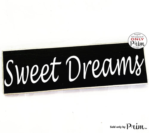 14x4 Sweet Dreams Custom Wood Sign | Children Kids Nursery Baby Shower Room Sleeping Shhh Dreaming Wall Door Plaque
