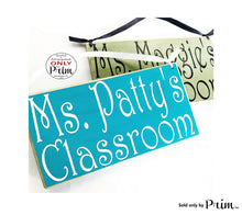 Load image into Gallery viewer, 10x6 Teacher Classroom Name Custom Wood Sign Personalized Counselor Teach Class Student Class In Session Back to School Supplies Door Plaque