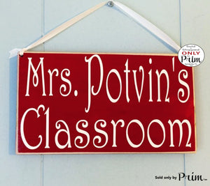 10x6 Teacher Classroom Name Custom Wood Sign Personalized Counselor Teach Class Student Class In Session Back to School Supplies Door Plaque