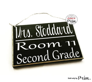 8x6 Teacher Classroom Name Grade Room Number Custom Wood Sign Personalized Counselor Class Student Class In Session Back to School Supplies