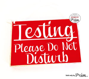 8x6 Testing Please Do Not Disturb Custom Wood Sign Teacher School Progress Students Class In Session Testing Silence Quiet Door Plaque