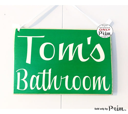 10x8 Personalized Name Bathroom Custom Wood Sign Restroom Outhouse Washroom Guest Room Man Cave Basement Bar Office Hotel Spa Door Plaque