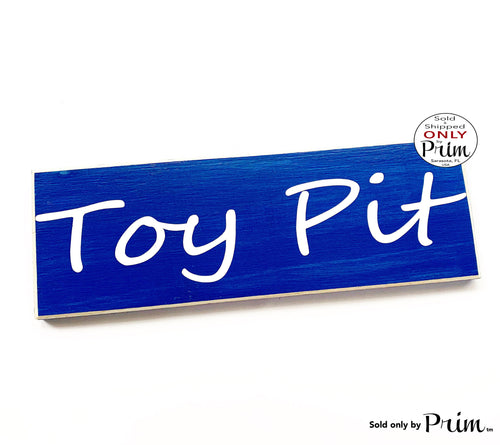 12x4 Toy Pit Custom Wood Sign Children Play Room Toys Preschool Daycare Nursery Store Shop Playtime Child Care Door Wall Plaque